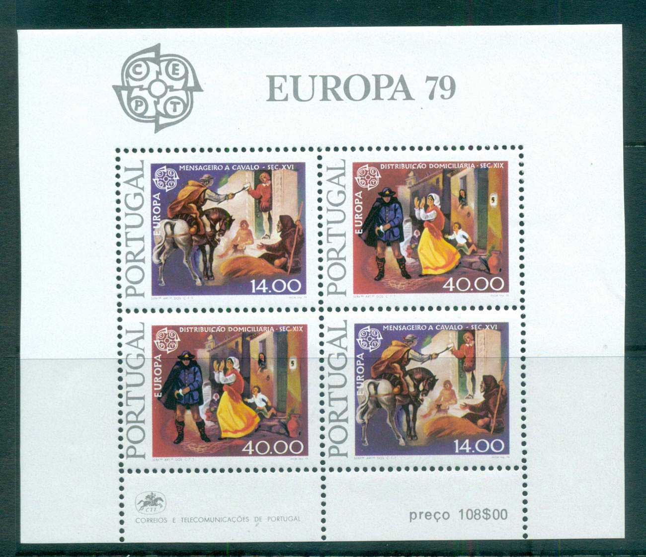 Portugal 1979 Europa, Communications MS MUH lot65738