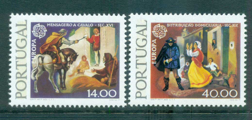 Portugal 1979 Europa, Communications Phosphor MUH lot65739