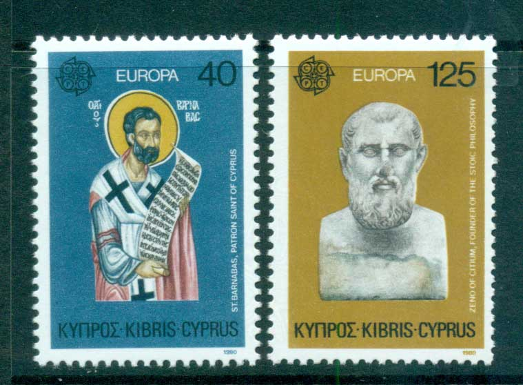 Cyprus 1980 Europa, Celebrities MUH lot65780