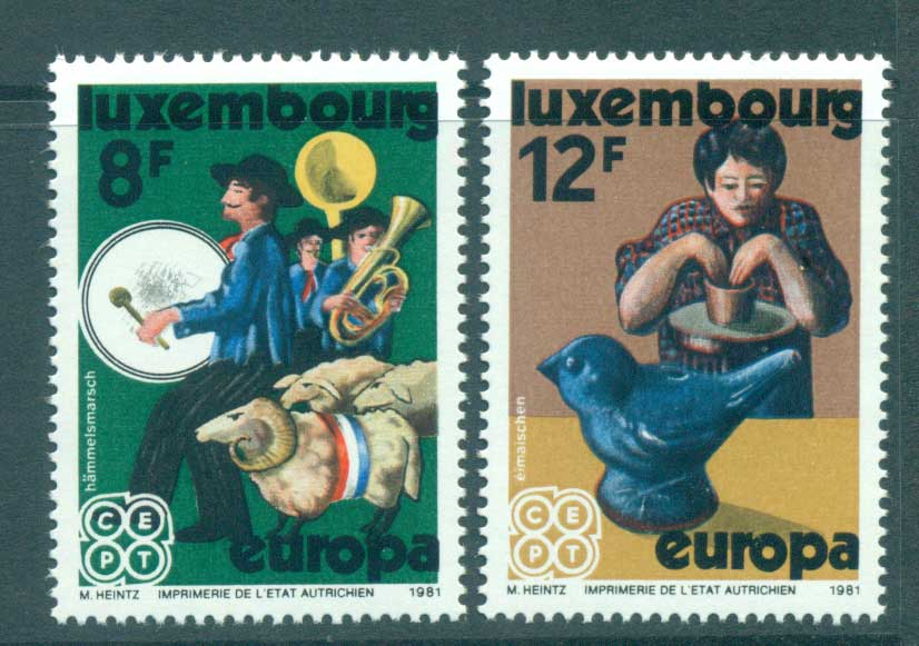 Luxembourg 1981 Europa, Folklore MUH lot65787