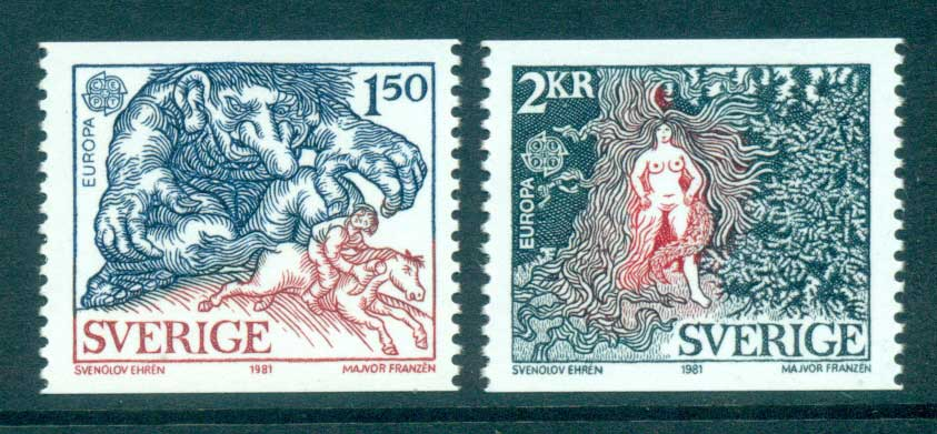 Sweden 1981 Europa, Folklore MUH lot65795