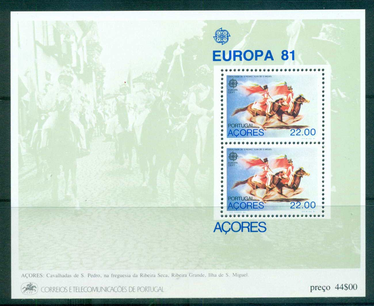 Azores 1981 Europa, Folklore MS MUH lot65813