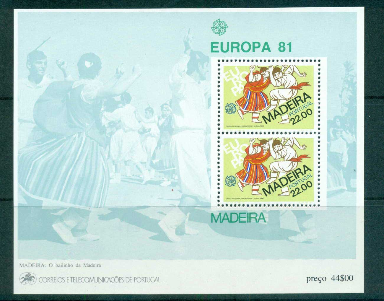 Madeira 1981 Europa, Folklore MS MUH lot65815