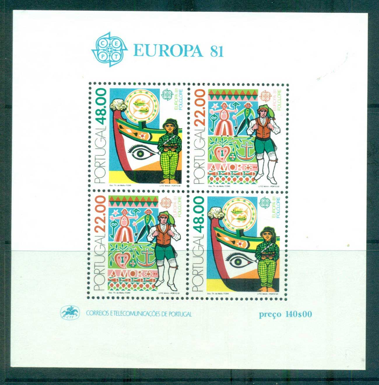 Portugal 1981 Europa, Folklore MS MUH lot65816