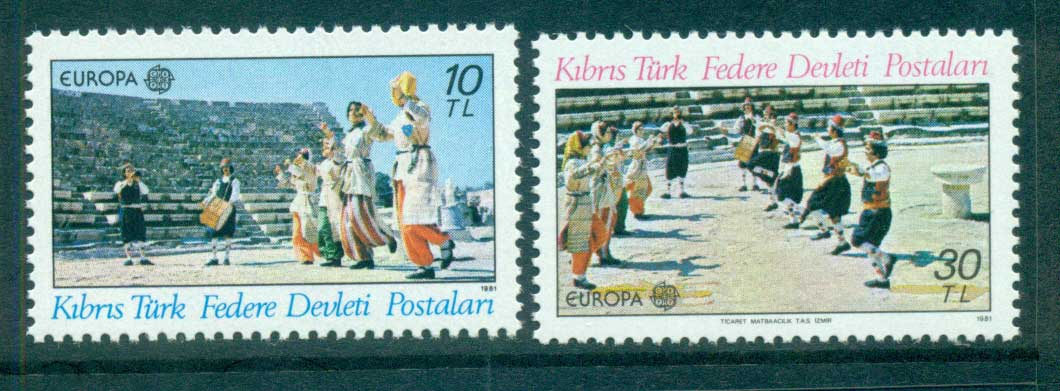 Cyprus Turkish 1981 Europa, Folklore MUH lot65823