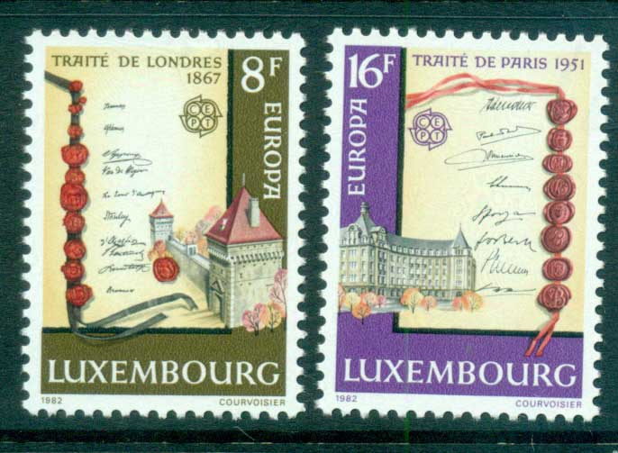 Luxembourg 1982 Europa, History MUH lot65828