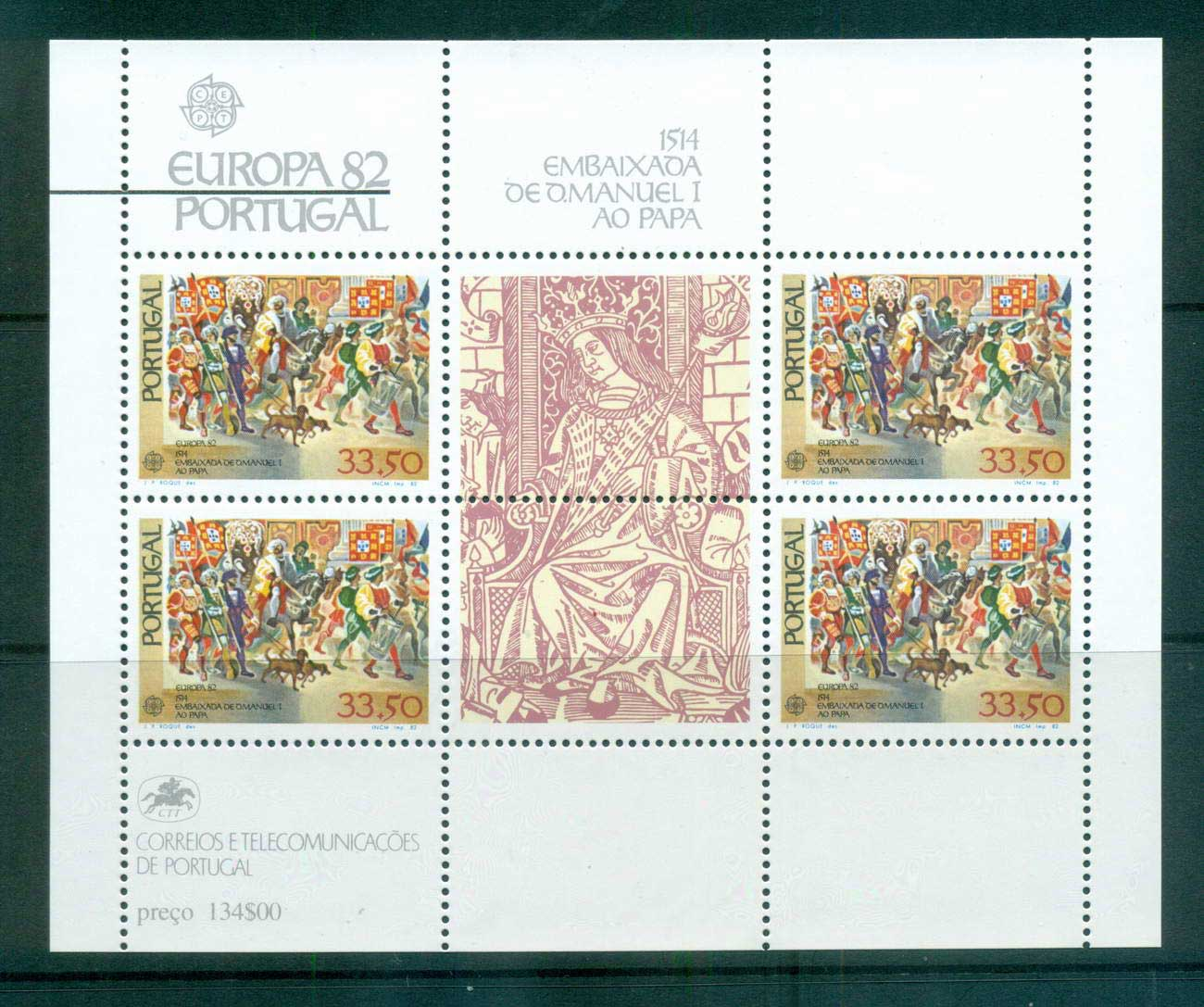 Portugal 1982 Europa, History MS MUH lot65852