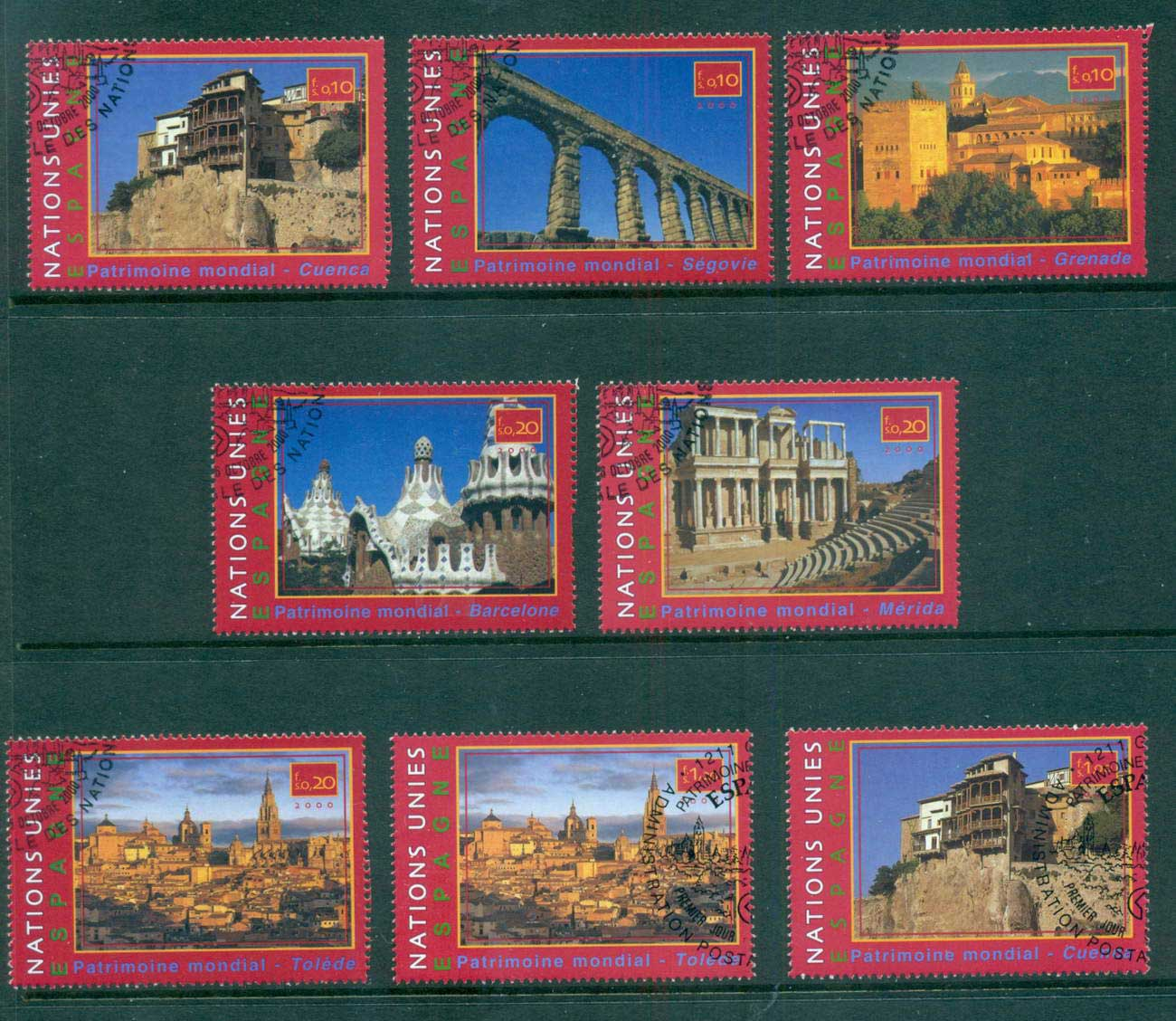 UN Geneva 2000 World Heritage Sites Spain CTO lot65892