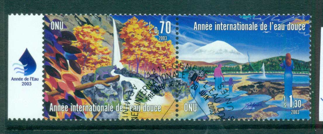 UN Geneva 2003 Intl. year of Freshwater CTO lot65907