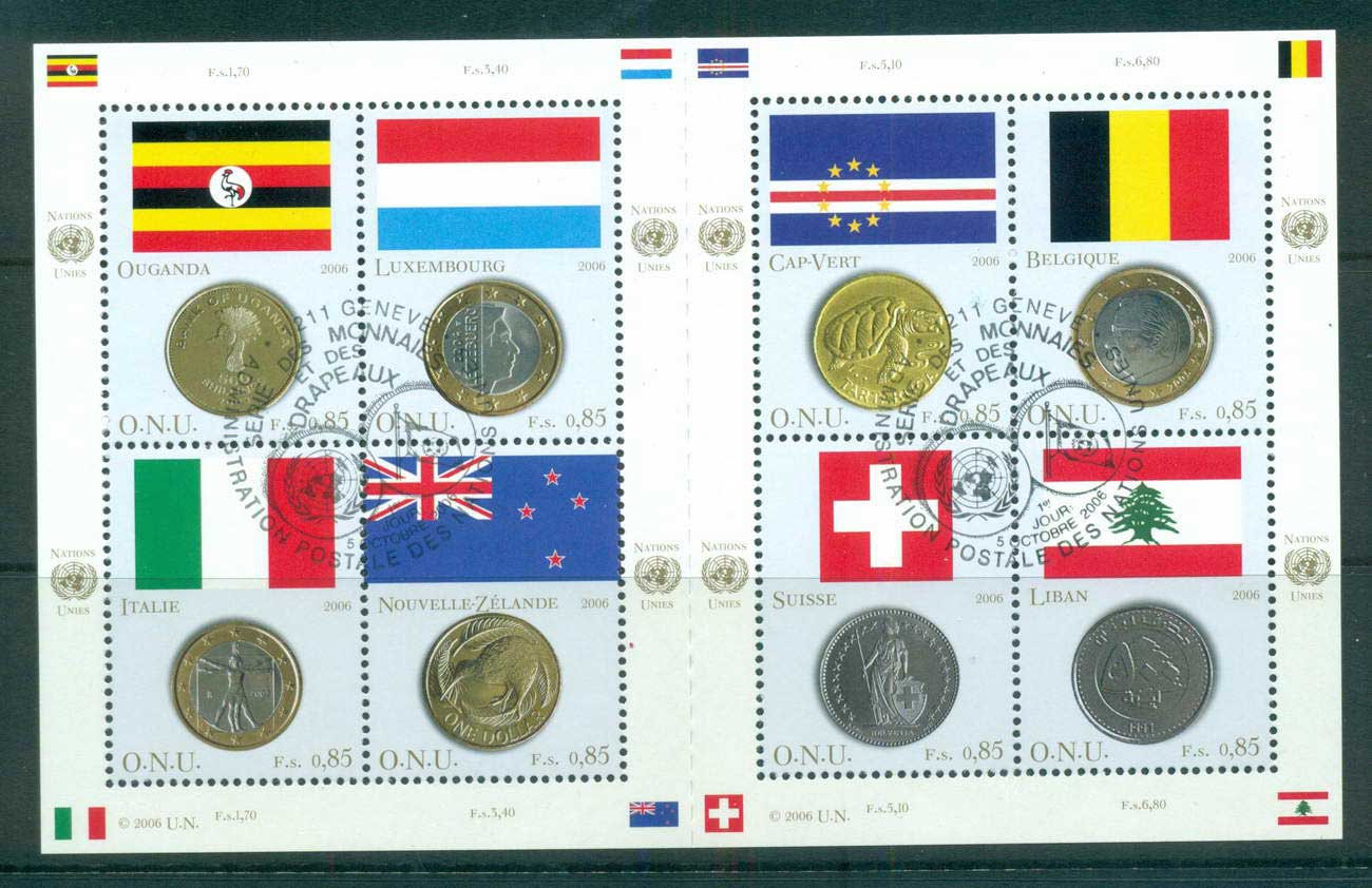 UN Geneva 2006 Flags & Coins MS CTO lot66046