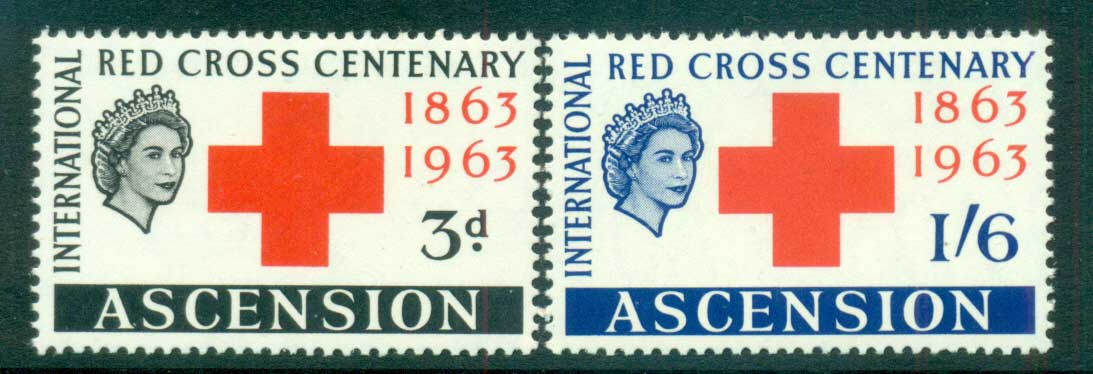 Ascension Is 1963 Red Cross MUH lot66122