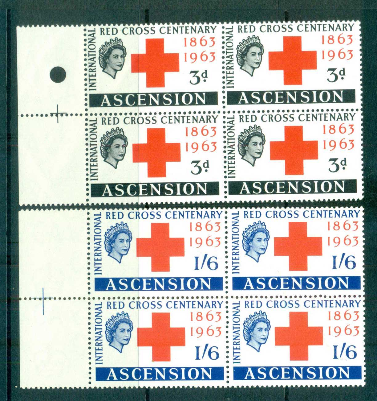 Ascension Is 1963 Red Cross Blk 4 MUH lot66126