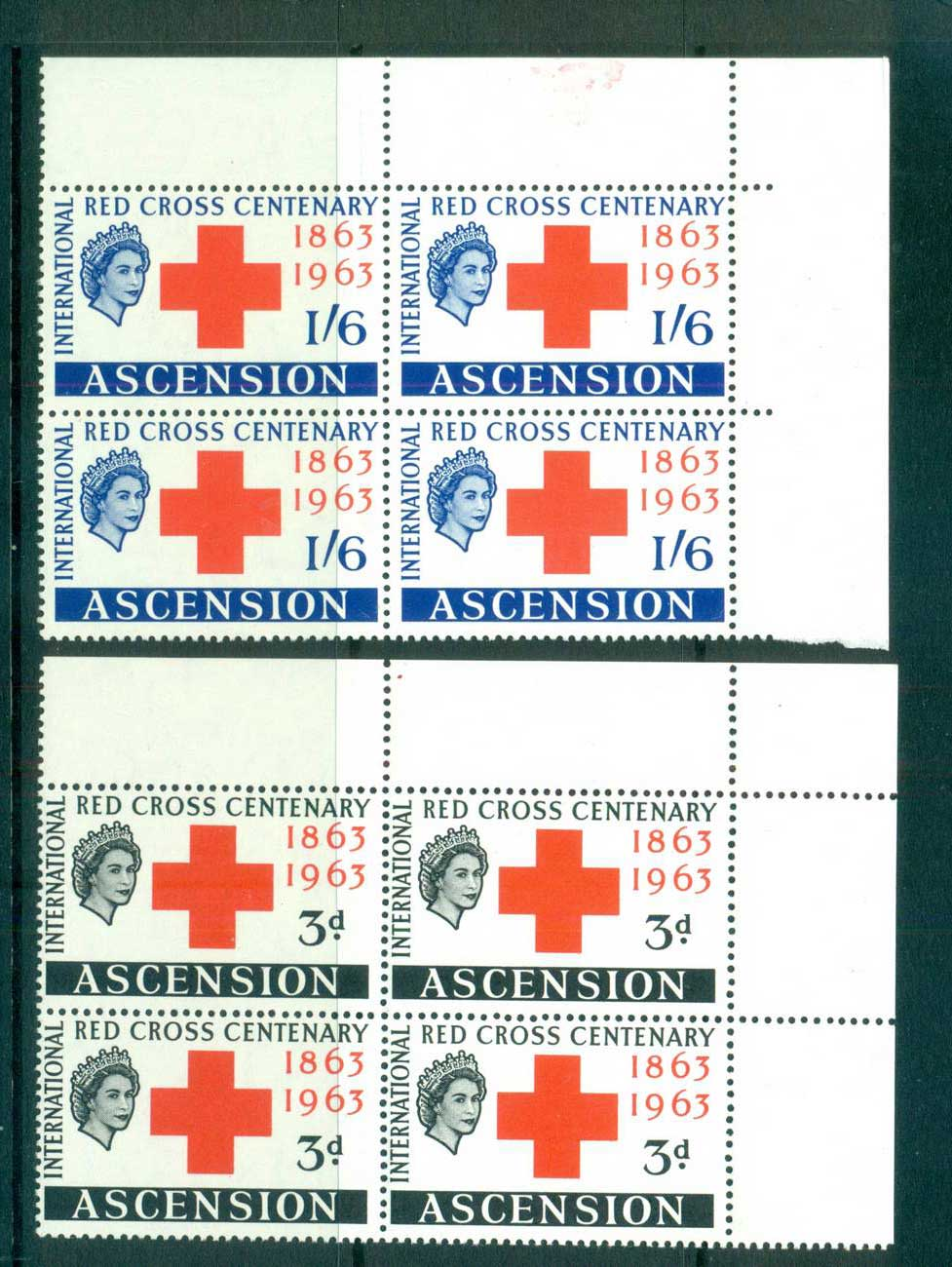 Ascension Is 1963 Red Cross Cnr Blk 4 MUH lot66127