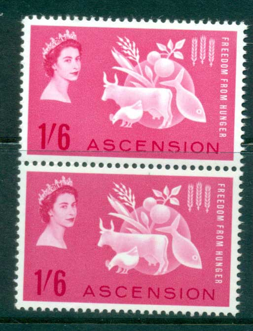 Ascension Is 1963 FFH pair MUH lot66133