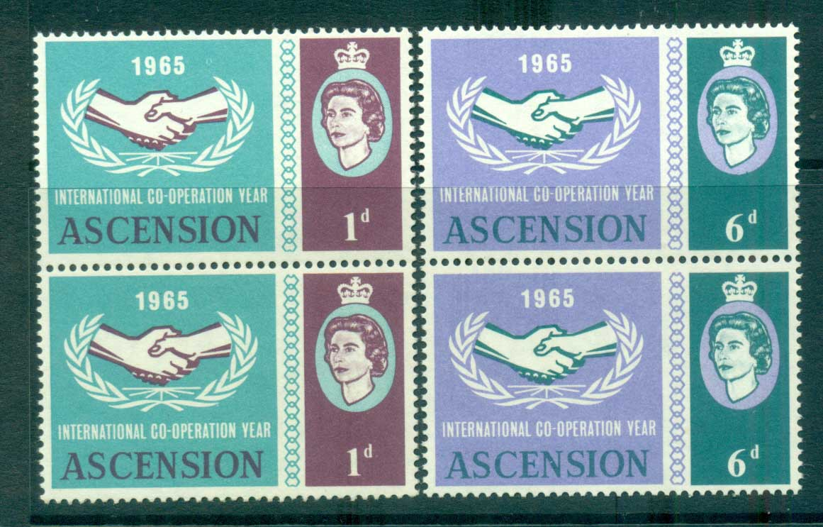 Ascension Is 1965 ICY pair MUH lot66138
