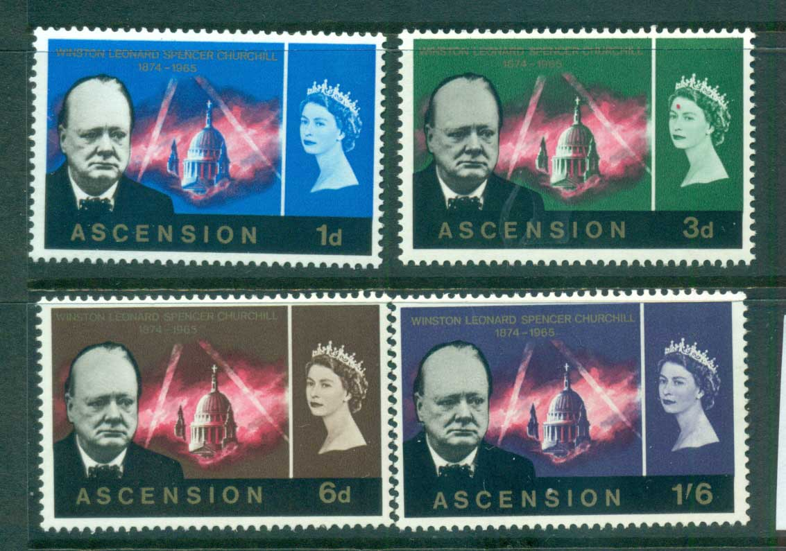 Ascension Is 1966 Churchill MUH lot66148