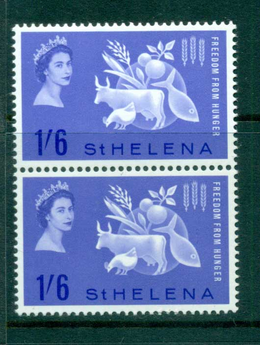 St Helena 1963 FFH pair MUH lot66152