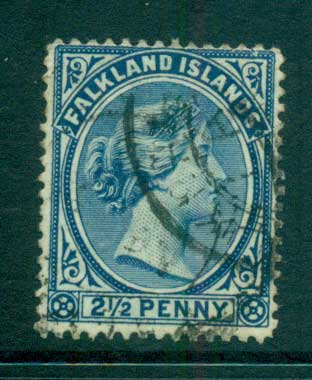 Falkland Is 1894 2.5d QV Ultra FU lot66198