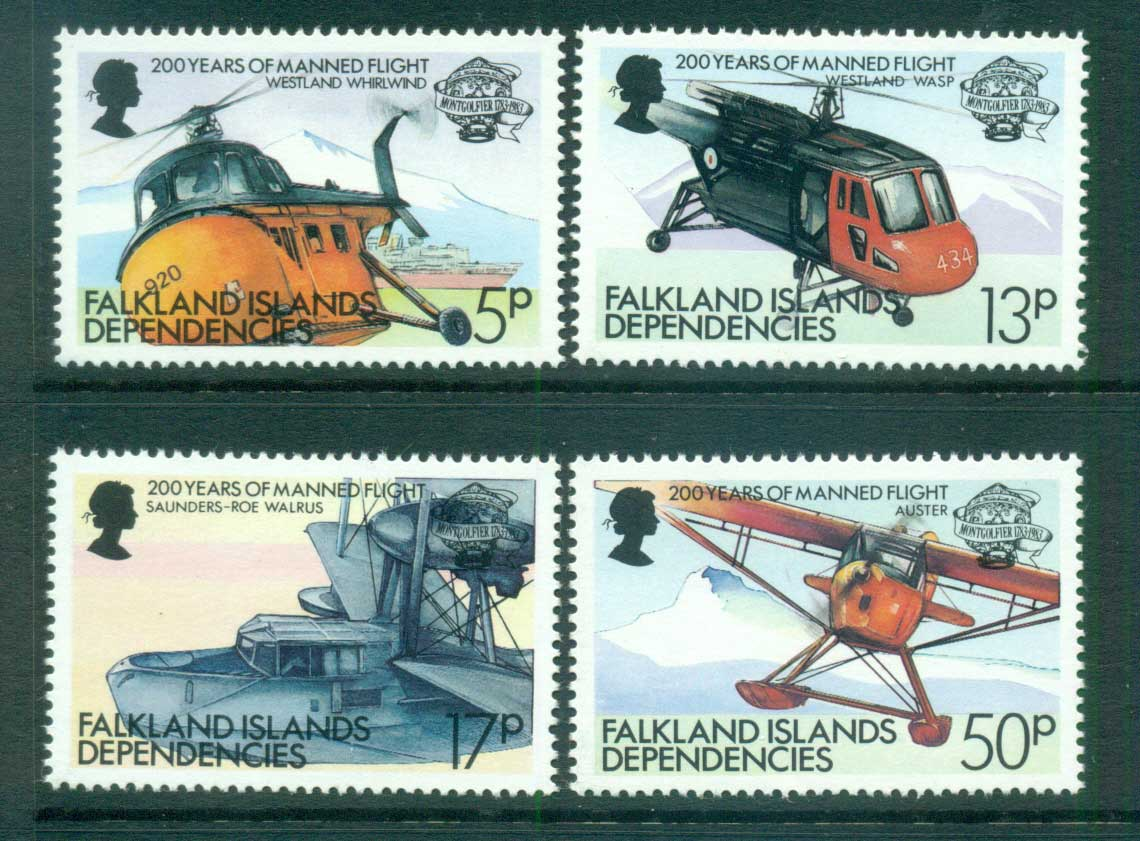 Falkland Is Deps 1983 Manned Flight Bicentenary MUH lot66208