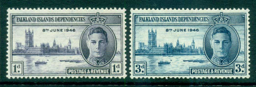Falkland Is Deps 1946 Victory MLH lot66217