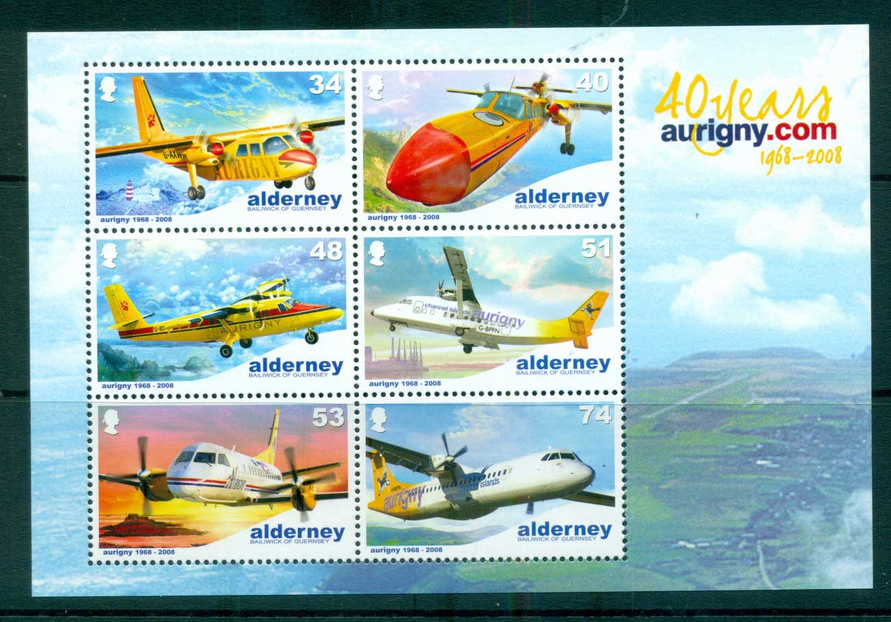 Alderney 2008 Aurigny Air Services MS MUH lot66520