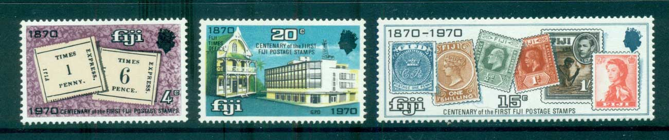 Fiji 1970 Stamp Anniversary MUH lot66644