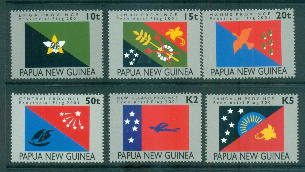 PNG 2001 Provincial Flags MUH lot66693
