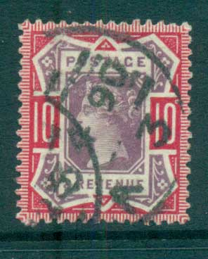 GB 1887-92 QV Jubilee 10d carmine rose & lilac FU lot66713