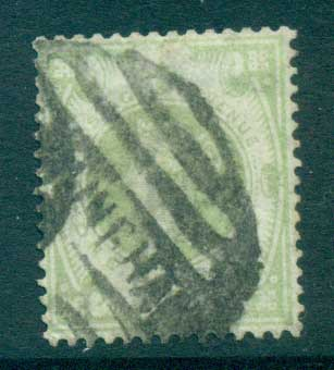 GB 1887-92 QV Jubilee 1/- green (faded)FU lot66714