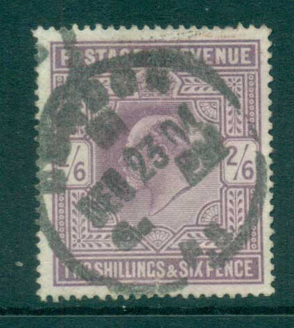 GB 1902-11 KEVII 2/6d lilac (faulty, spacefiller) FU lot66719