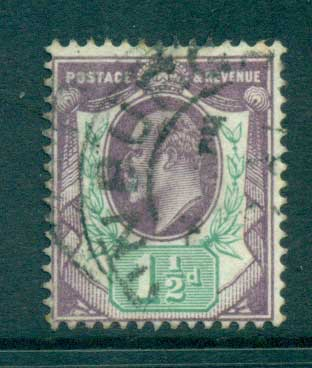 GB 1902-11 KEVII 1 1/2d violet & green FU lot66722
