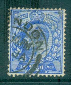 GB 1902-11 KEVII 2 1/2d ultramarine FU lot66724