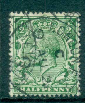 GB 1912-13 KGV 1/2d green FU lot66734