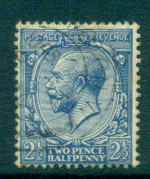 GB 1912-13 KGV 2 1/2d ultramarine FU lot66738