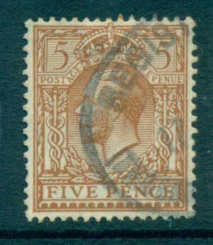 GB 1912-13 KGV 5d yellow brown FU lot66741