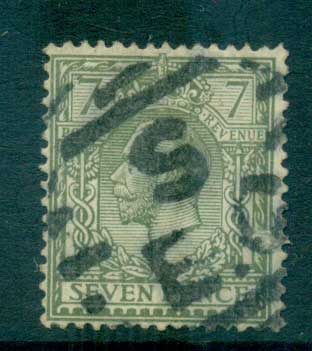 GB 1912-13 KGV 7d olive green FU lot66743