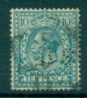 GB 1912-13 KGV 10d light blue (perfin BS)FU lot66746