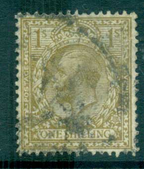 GB 1912-13 KGV 1/- bister FU lot66747