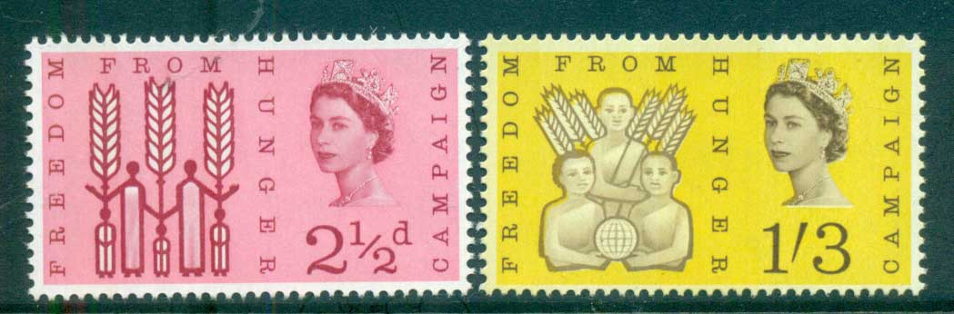 GB 1963 FFH Freedom From Hunger Phos. MUH lot66813