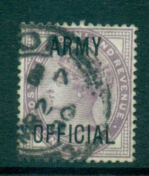 GB 1896 1d lilac Opt. ARMY OFFICIAL FU lot66902