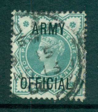 GB 1900 1/2d blue green Opt. ARMY OFFICIAL FU lot66903