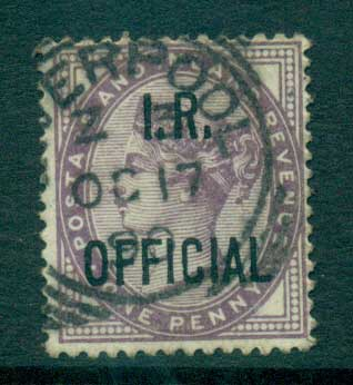 GB 1882-85 1d lilac Opt. I.R. OFFICIAL FU lot66906