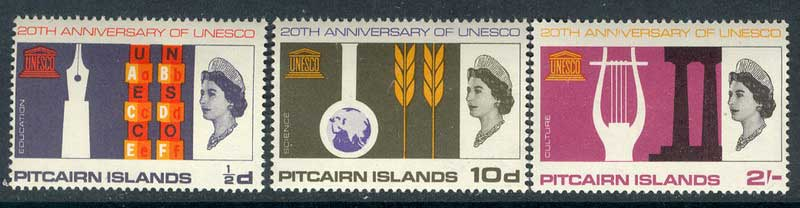 Pitcairn Is 1966 UNESCO MUH Lot10251