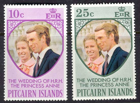 Pitcairn Is 1973 Princess Annes Wedding MUH Lot10262