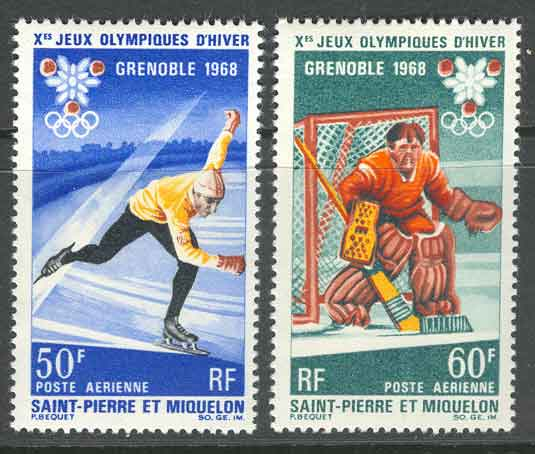 St Pierre et Miquelon 1968 Grenoble Olympics MUH Lot10474