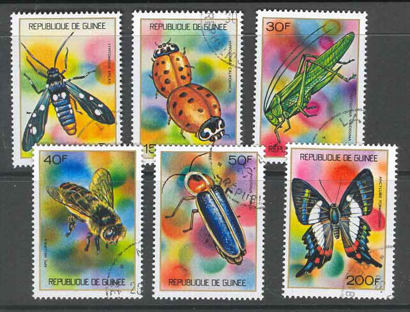 Guinee 1973 Insects CTO Lot10761