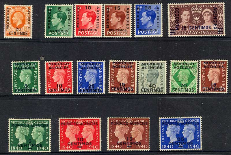 Morocco Agencies (Sp) 1936-40 Asst (17) MLH/FU Lot10860
