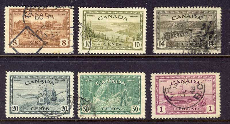 Canada 1946 Pictorials FU Lot11147