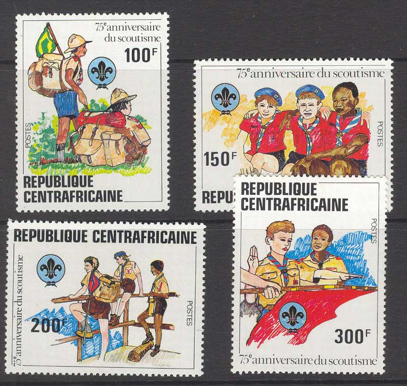 Central African Republic 1982 Scouts MUH Lot11920