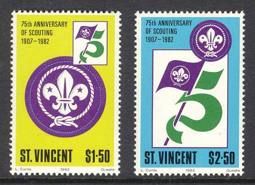 St Vincent 1982 Scouts MUH Lot11990